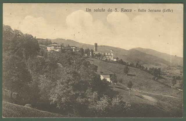 Lombardia. BERGAMO. Un saluto da S. Rocco - Valle Seriana (Leffe). Panorama. Cartolina d'epoca viaggiata nel 1920.