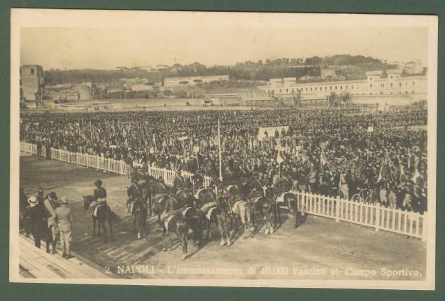FASCISMO. Napoli. L'ammassamento di 40.000 Fascisti al Campo Sportivo.