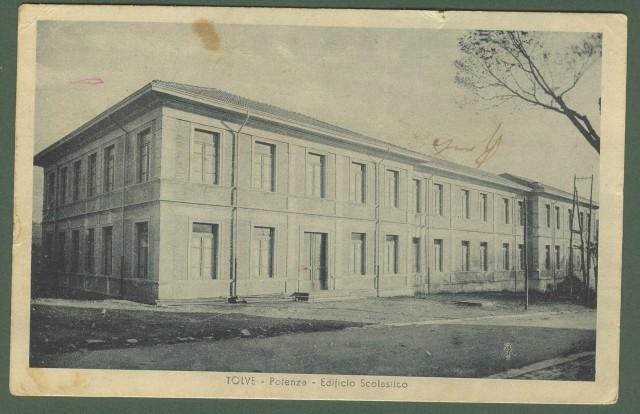 (Basilicata - Potenza) TOLVE. Edificio Scolastico. Cartolina d'epoca viaggiata nel 1937.