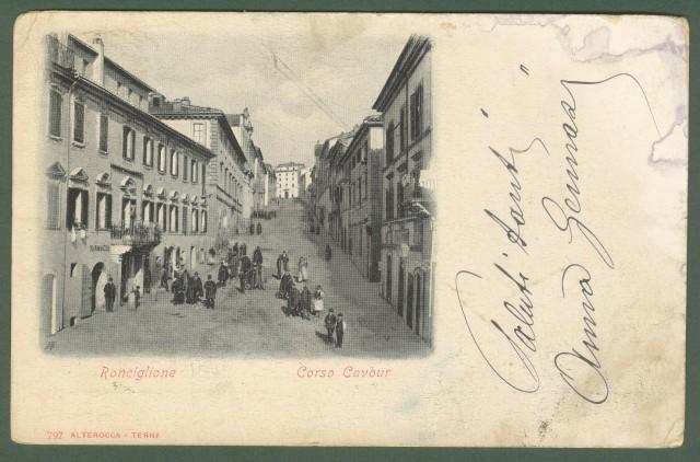 RONCIGLIONE, Viterbo. Corso Cavour. Cartolina viaggiata nel 1902