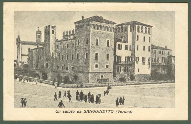 SANGUINETTO, Verona. Cartolina d'epoca viaggiata nel 1918