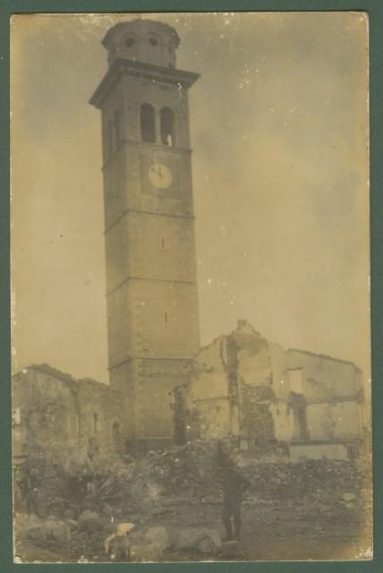 PRIMA GUERRA. San Pietro in Cariano (Verona). Distruzioni. Cartolina fotografica