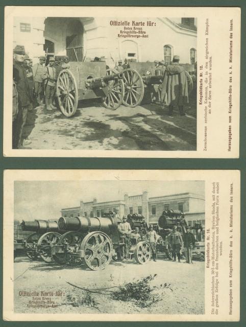 AUSTRIA. Due cartoline militari, anno 1914