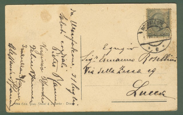 MONFALCONE, Gorizia. Cartolina d'epoca viaggiata nel 1920.