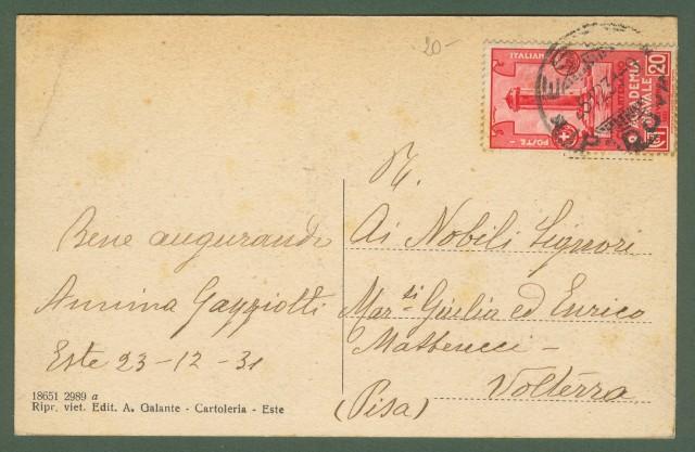 ESTE (Padova). Piazza Trieste. Cartolina d'epoca viaggiata nel 1931.