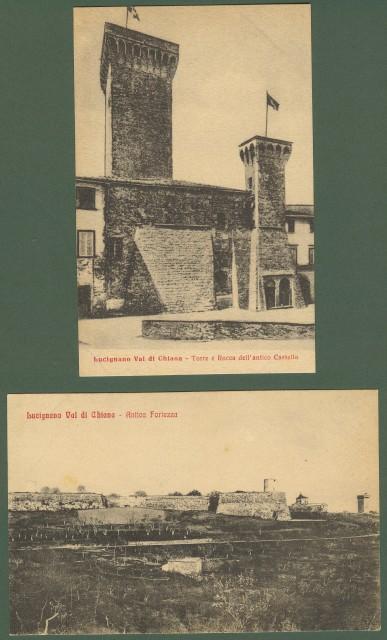 LUCIGNANO, Arezzo. Due cartoline d'epoca