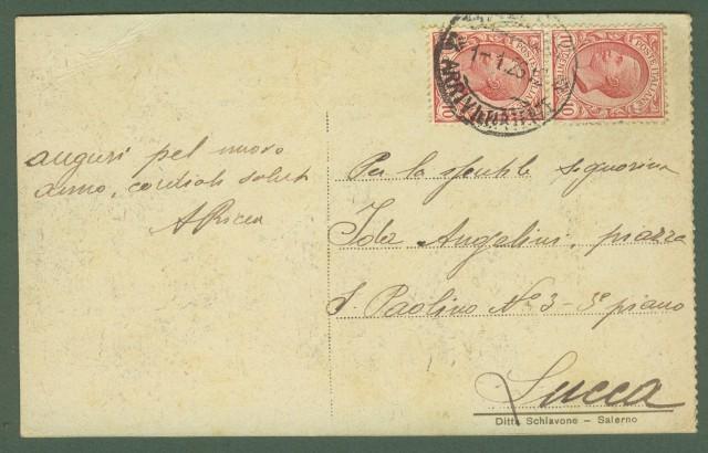 SALERNO, Corso Vittorio Emanuele. Cartolina d'epoca viaggiata nel 1925.