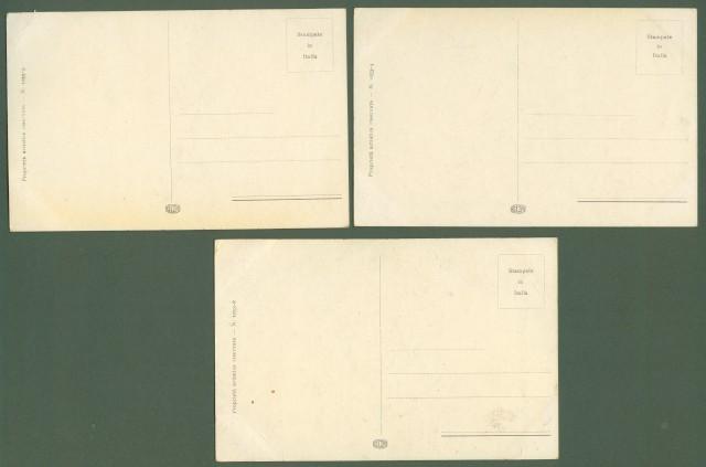 BERTIGLIA. Tre cartoline d'epoca non viaggiate, circa 1930