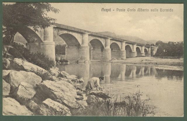 ACQUI, Alessandria. Ponte Carlo Alberto sulla Bormida