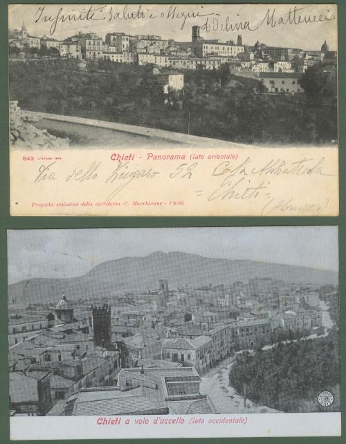 CHIETI. Due panorami , lato occidentale e lato orientale