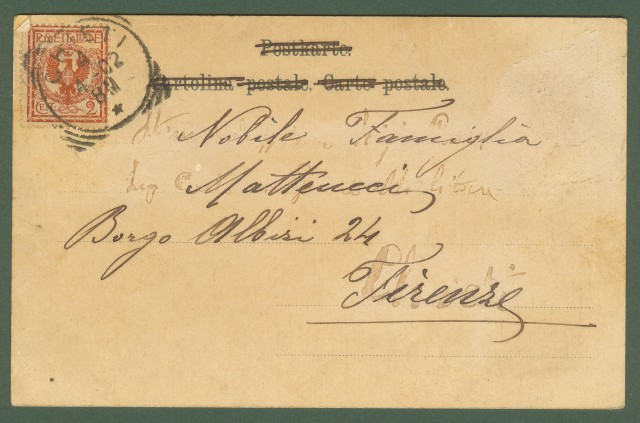 CHIETI. Fiume Pescara e dintorni. Cartolina d'epoca viaggiata 1902