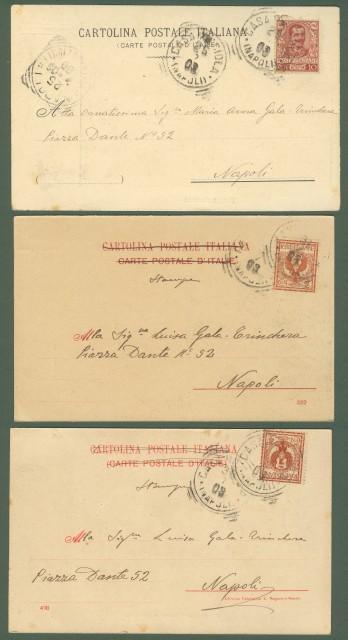 ISCHIA (Napoli). Tre cartoline viaggiate nel 1903