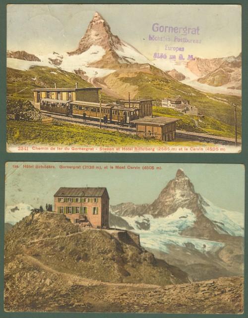SVIZZERA. Ferrovia di Gornegrat. Stazione e hotel Rifflberg