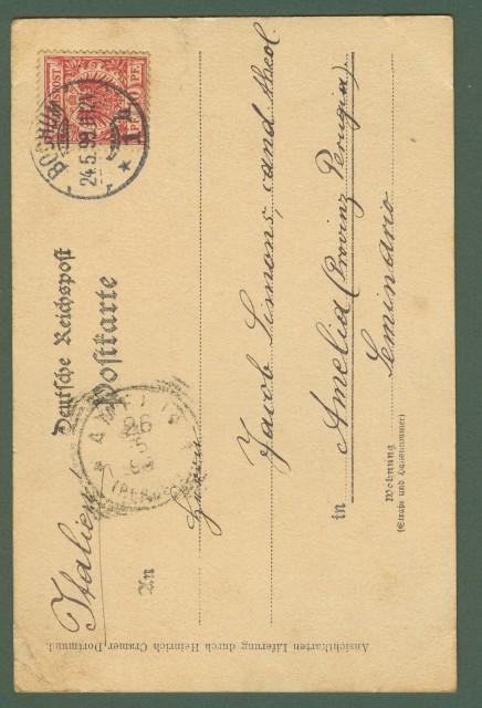 GERMANIA. Gruss aus Bochum. Cartolina d'epoca viaggiata nel 1899