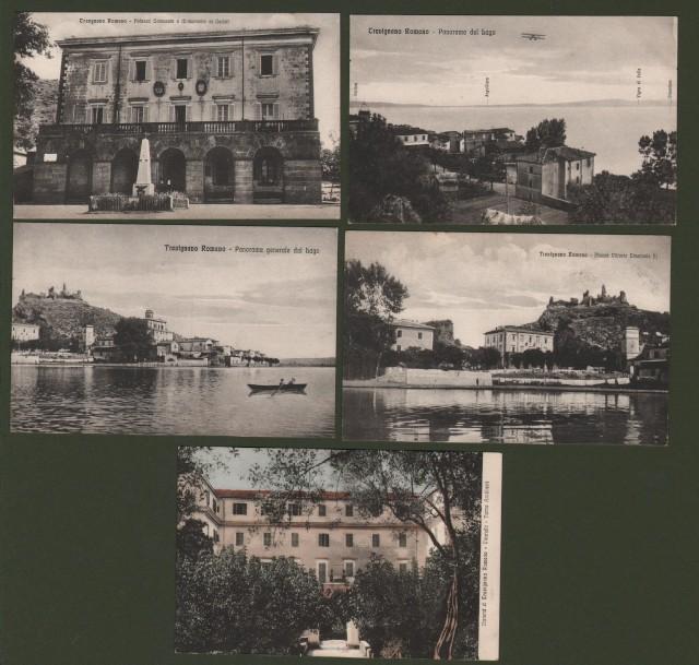 TREVIGNANO ROMANO. 5 cartoline d'epoca non viaggiate, circa 1925.