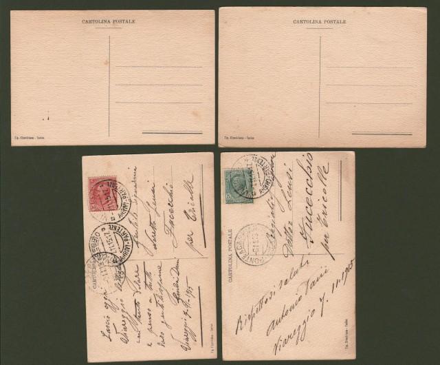 ATTILIO MUSSINO. Assistenza bambini in tempo di guerra. 4 cartoline d'epoca non viaggiate, circa 1915.