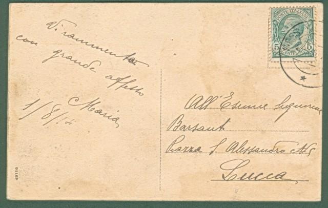 *VALMADONNA, Alessandria. Panorama. Cartolina d'epoca viaggiata nel 1914