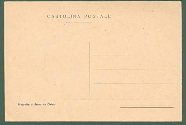DA OSIMO BRUNO. La Rocca di Gradara. Cartolina d'epoca non viaggiata, circa 1930
