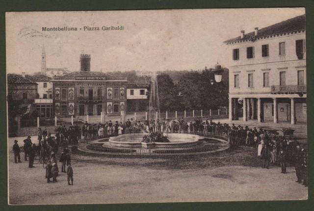 MONTEBELLUNO, Treviso. Piazza Garibaldi.