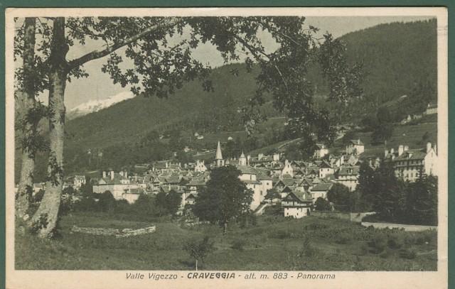 CRAVEGGIA. Verbania Ossola, Piemonte. Cartolina d'epoca viaggiata nel 1927