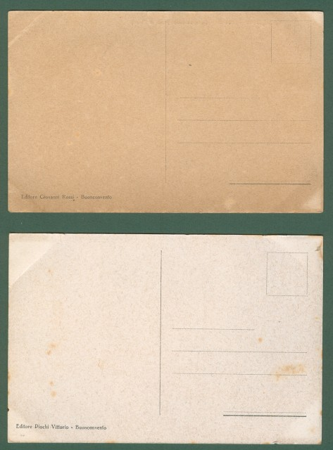 CASTELNUOVO TANCREDI (Siena). Due cartoline d'epoca, anni '20.