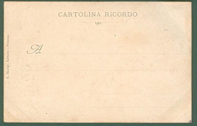 GIOCO DEL CALCIO. Firenze. S.A. Serenissima il Re della Graticola al Giuoco del Calcio. Cartolina d'epoca inizio '900.