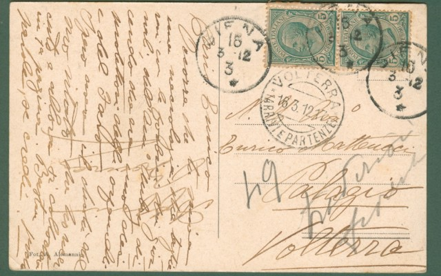 FIRENZE. Orfani Marinari. Viale Mazzini. Cartolina d'epoca viaggiata nel 1912.