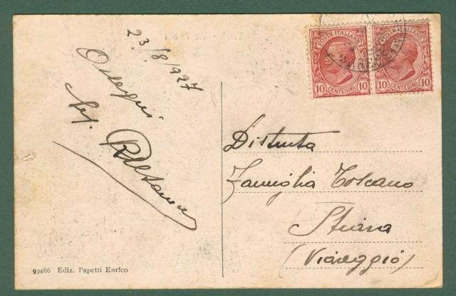 Lazio. VEROLI, Frosinone. Via Civerta, cartolina viaggiata nel 1927