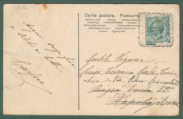 Campania. ARIENZO, Caserta. Piazza del Mercato. Cartolina d'epoca viaggiata nel 1911