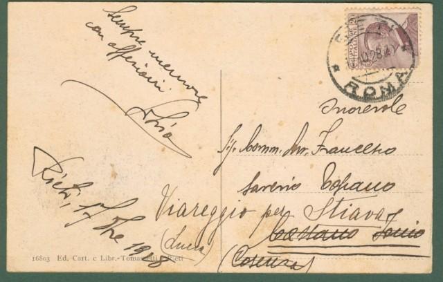 Lazio. RIETI. Via Varrone. Cartolina d'epoca viaggiata nel 1928