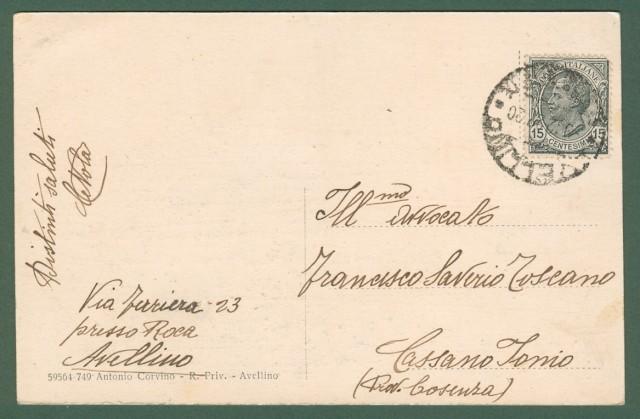 CAMPANIA. AVELLINO. R. Scuola Enologica. Cartolina d'epoca viaggiata nel 1922