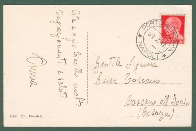CAMPANIA. PORTO D'ISCHIA, (Napoli). Antiche Terme Comunali. Cartolina d'epoca viaggiata nel 1937