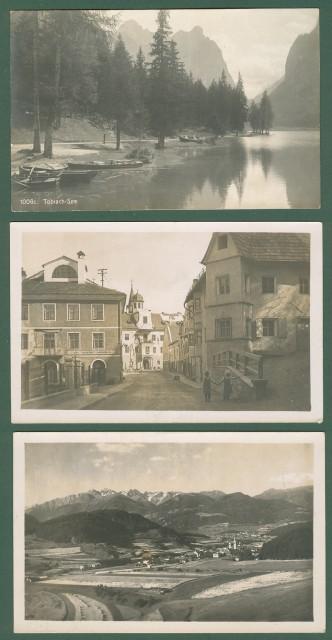 TRENTINO. TOBBIACO, (Bolzano). Tre cartoline d'epoca non viaggiate, circa 1916
