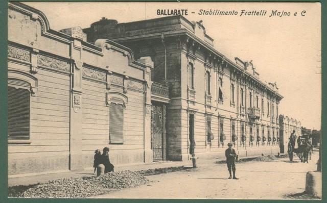 Lombardia. GALLARATE, Varese. Stabilimento Fratelli Majno e C. Cartolina d'epoca viaggiata nel 1913