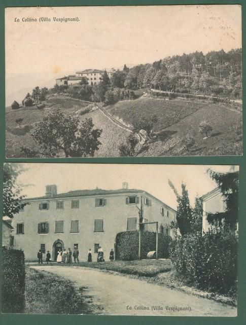 COLLINA DI TREDOZIO, Forlì. 2 cartoline d'epoca viaggiate nel 1925.