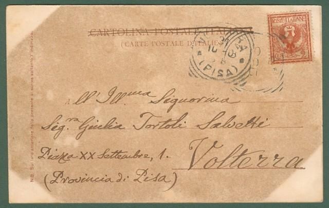 S. SOFIA, Forlì. Lungo Bidente. Cartolina viaggiata nel 1901.