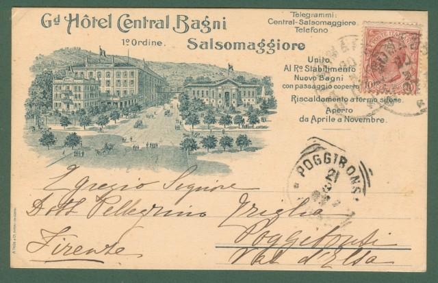 SALSOMAGGIORE, Piacenza. Grand Hotel Central Bagni.