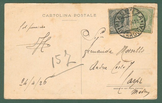 PIACENZA. III'° Congresso Eucaristico 1926.