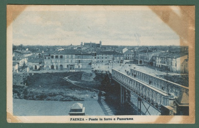 FAENZA, Ravenna. Ponte in ferro e panorama.