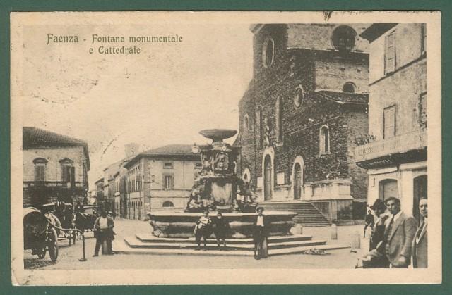 FAENZA, Ravenna. Fontana munumentale e Cattedrale.