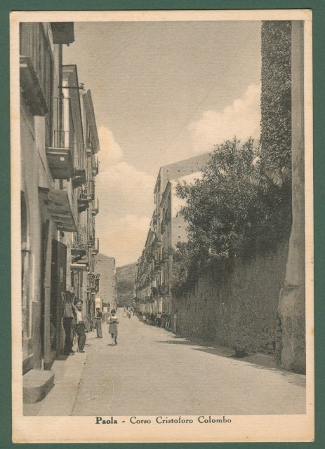 PAOLA (Cosenza). Corso Cristoforo Colombo.
