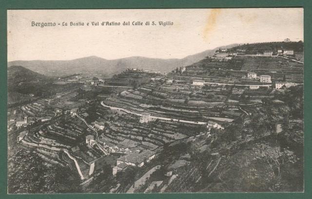 BERGAMO. La Bastia e Val d'Astino dal Colle di S. Vigilio.