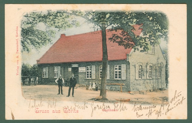 GORIZIA. Gruss aus Goritz. Gasthaus. Cartolina d'epoca.