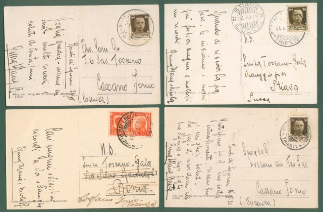 RONCHI DEI LEGIONARI (Gorizia). 4 cartoline d'epoca.