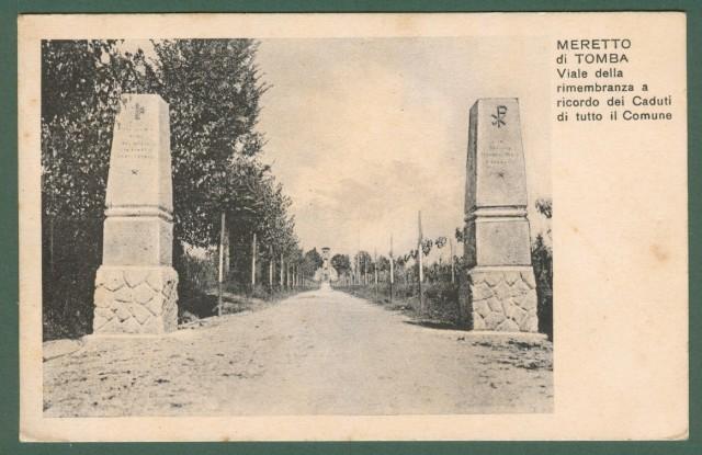 Friuli-Venezia Giulia. MERETTO DIN TOMBA (Udine). Viale della rimembranza. Cartolina d'epoca viaggiata nel 1935.