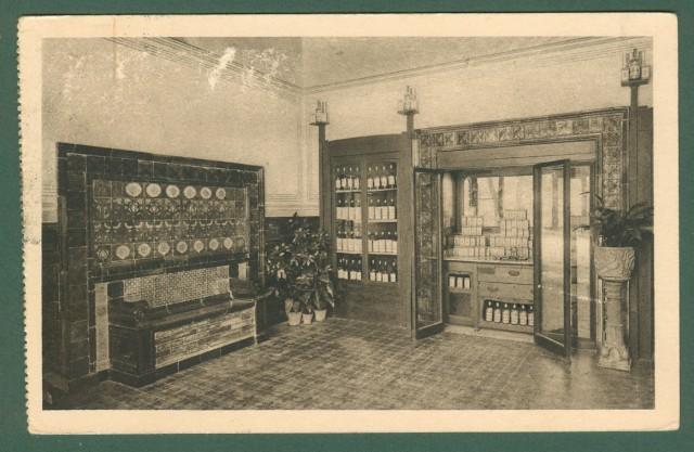 Toscana. MONTECATINI TERME, Pistoia. Sede della Ditta Bozzi e Trippa. Cartolina d'epoca viaggiata nel 1930.