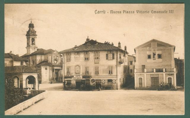 Piemonte. CARRU', Cuneo. Nuova Piazza Vittorio Emanuele III.