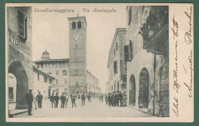 Piemonte. CAVALLERMAGGIORE, Cuneo. Via Nazionale.