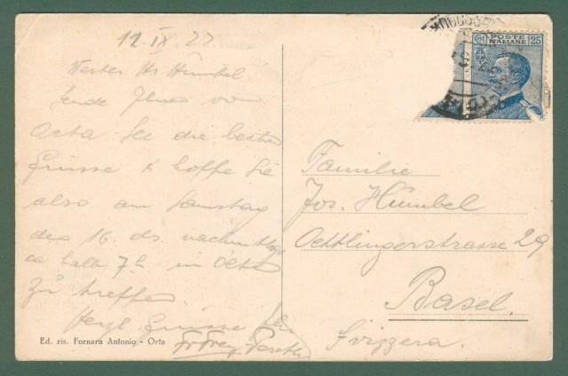 ARMENO, Lago d'Orta. Palazzo Comunale. Cartolina d'epoca viaggiata nel 1922.