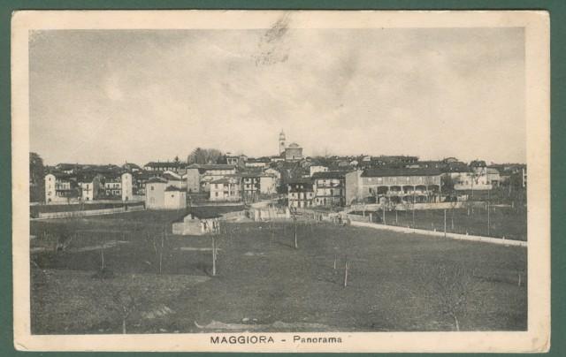 Piemonte. MAGGIORA, Novara. Panorama. Cartolina d'epoca viaggiata nel 1931.